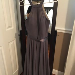 Bridesmaid dress dark grey from David's bridal